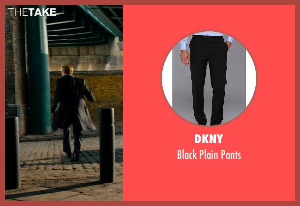DKNY black pants from Mortdecai seen with Johnny Depp (Charles Mortdecai)