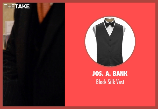 JoS. A. Bank black vest from Mortdecai seen with Johnny Depp (Charles Mortdecai)