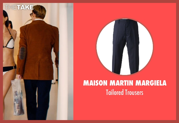 Maison Martin Margiela blue trousers from Mortdecai seen with Johnny Depp (Charles Mortdecai)