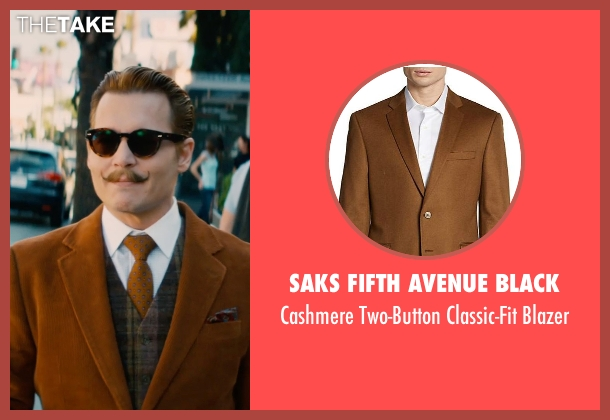 Saks Fifth Avenue BLACK brown blazer from Mortdecai seen with Johnny Depp (Charles Mortdecai)