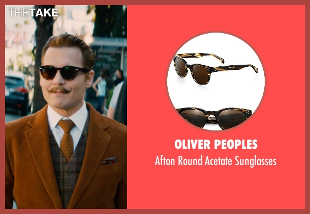 Oliver Peoples brown sunglasses from Mortdecai seen with Johnny Depp (Charles Mortdecai)