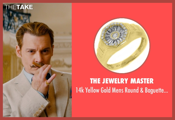 The Jewelry Master gold ring from Mortdecai seen with Johnny Depp (Charles Mortdecai)