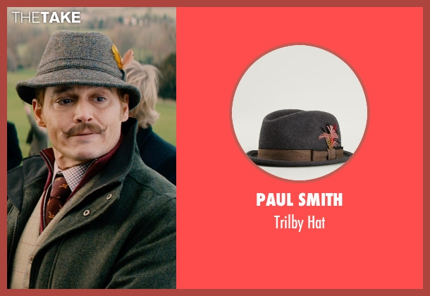 Paul Smith gray hat from Mortdecai seen with Johnny Depp (Charles Mortdecai)