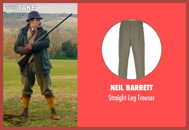 Neil Barrett green trouser from Mortdecai seen with Johnny Depp (Charles Mortdecai)