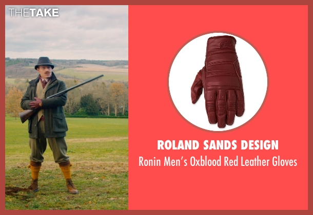 Roland Sands Design red gloves from Mortdecai seen with Johnny Depp (Charles Mortdecai)