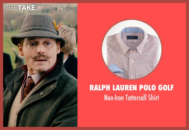 Ralph Lauren Polo Golf red shirt from Mortdecai seen with Johnny Depp (Charles Mortdecai)