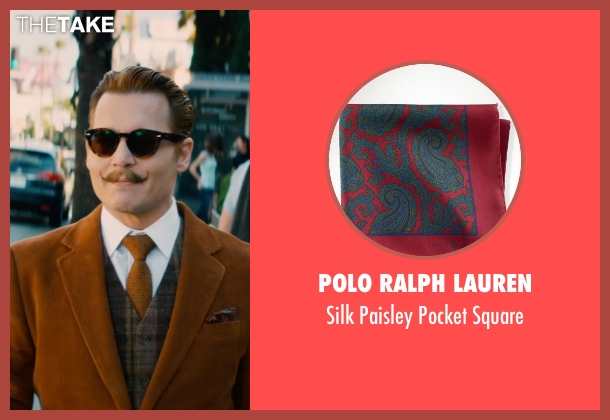 Polo Ralph Lauren red square from Mortdecai seen with Johnny Depp (Charles Mortdecai)