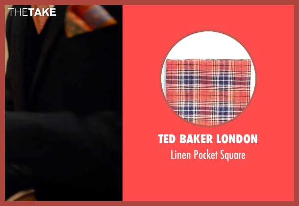 Ted Baker London red square from Mortdecai seen with Johnny Depp (Charles Mortdecai)