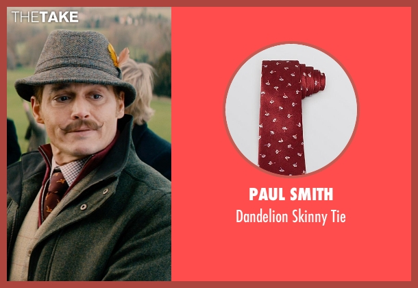 Paul Smith red tie from Mortdecai seen with Johnny Depp (Charles Mortdecai)