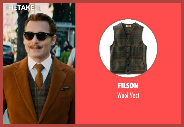 Filson vest from Mortdecai seen with Johnny Depp (Charles Mortdecai)
