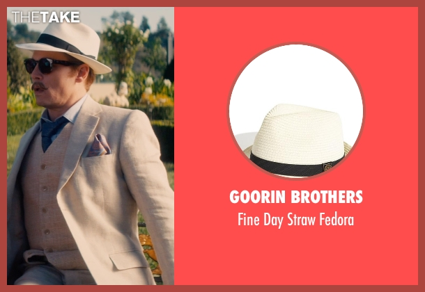 Goorin Brothers white fedora from Mortdecai seen with Johnny Depp (Charles Mortdecai)