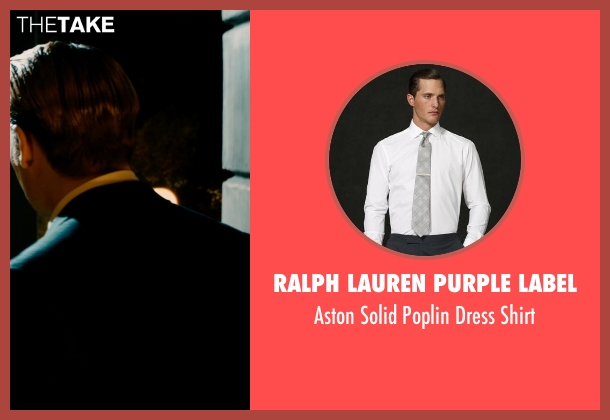 Ralph Lauren Purple Label white shirt from Mortdecai seen with Johnny Depp (Charles Mortdecai)