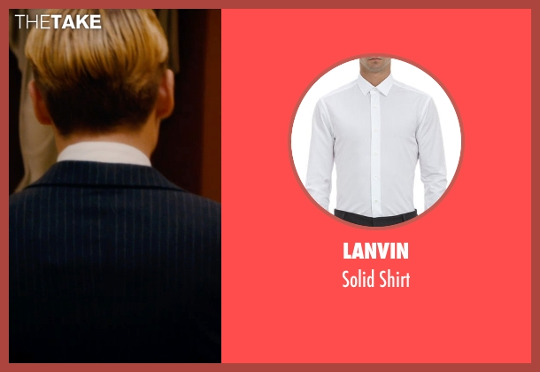 Lanvin white shirt from Mortdecai seen with Johnny Depp (Charles Mortdecai)