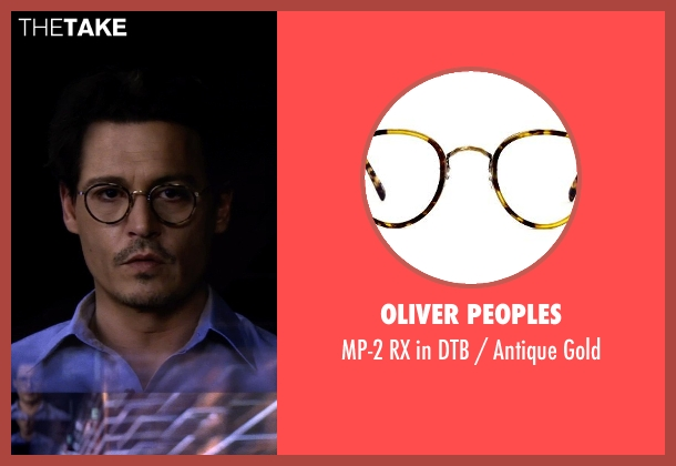 Oliver Peoples brown gold from Transcendence seen with Johnny Depp (Will Caster)
