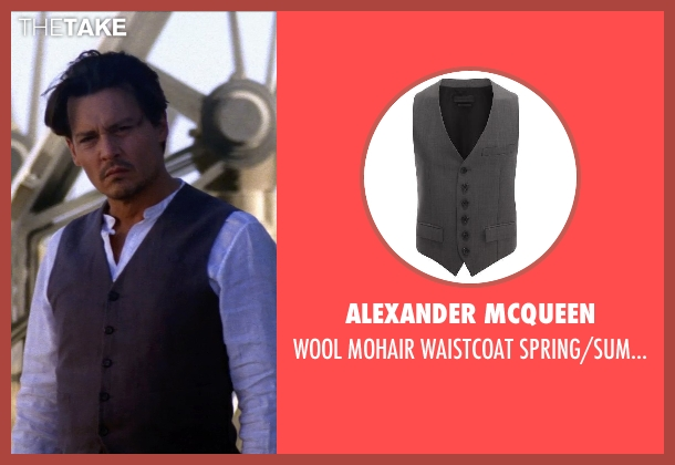 ALEXANDER MCQUEEN gray spring/summer from Transcendence seen with Johnny Depp (Will Caster)