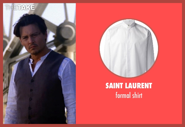 SAINT LAURENT white shirt from Transcendence seen with Johnny Depp (Will Caster)