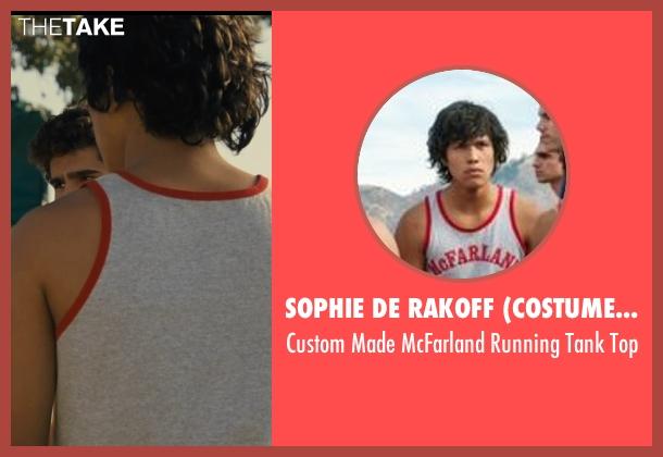 Sophie De Rakoff (Costume Designer) gray top from McFarland, USA seen with Johnny Ortiz (Jose Cardenas)