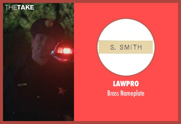 LawPro nameplate from John Wick seen with Johnny Serret (Police Officer)