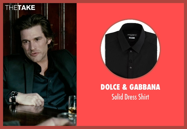 Dolce & Gabbana black shirt from Limitless seen with Johnny Whitworth (Vernon)