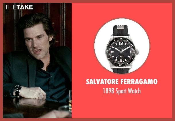 Salvatore Ferragamo	 black watch from Limitless seen with Johnny Whitworth (Vernon)