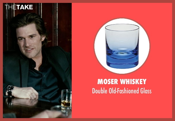 Moser Whiskey glass from Limitless seen with Johnny Whitworth (Vernon)