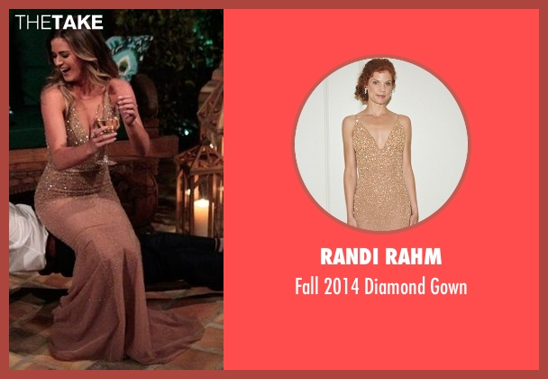 Randi Rahm beige gown from The Bachelorette seen with JoJo Fletcher