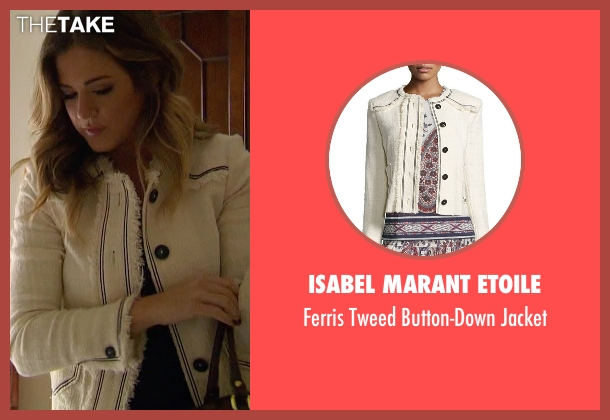 Isabel Marant Etoile  beige jacket from The Bachelorette seen with JoJo Fletcher