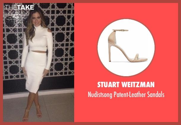 Stuart Weitzman beige sandals from The Bachelorette seen with JoJo Fletcher