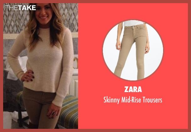 Zara beige trousers from The Bachelorette seen with JoJo Fletcher