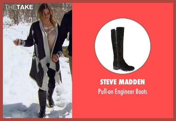 Steve Madden black boots from The Bachelorette seen with JoJo Fletcher