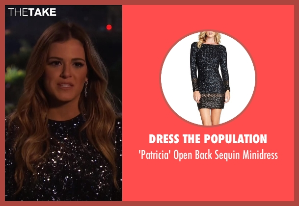 Dress The Population black minidress from The Bachelorette seen with JoJo Fletcher