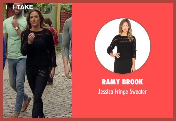 Ramy Brook black sweater from The Bachelorette seen with JoJo Fletcher