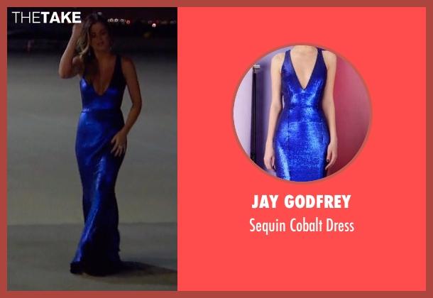 Jay Godfrey blue dress from The Bachelorette seen with JoJo Fletcher