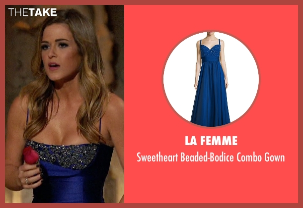 La Femme blue gown from The Bachelorette seen with JoJo Fletcher