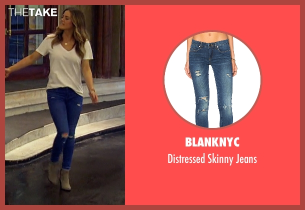 BlankNYC blue jeans from The Bachelorette seen with JoJo Fletcher