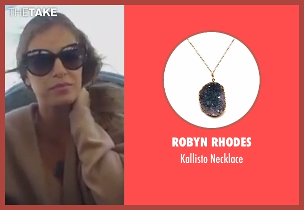 Robyn Rhodes blue necklace from The Bachelorette seen with JoJo Fletcher
