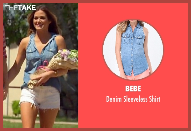 Bebe blue shirt from The Bachelorette seen with JoJo Fletcher