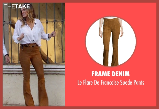 Frame Denim brown pants from The Bachelorette seen with JoJo Fletcher