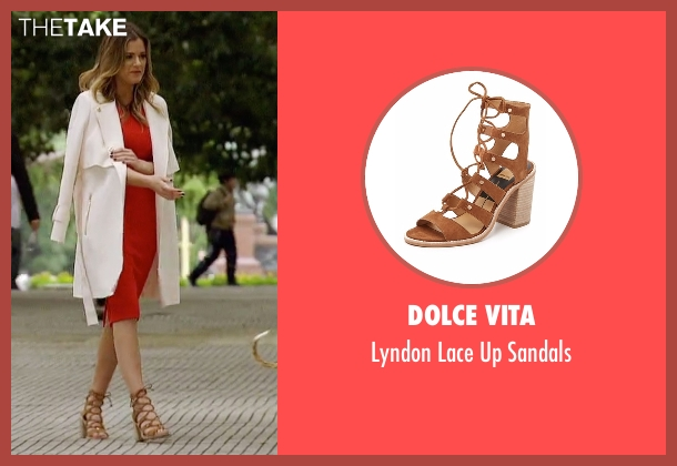 Dolce Vita brown sandals from The Bachelorette seen with JoJo Fletcher