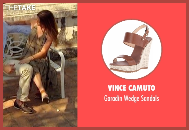 Vince Camuto brown sandals from The Bachelorette seen with JoJo Fletcher