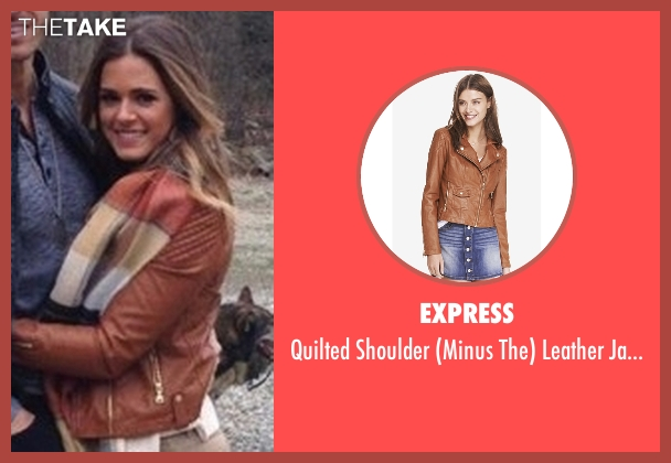 Express brown jacket from The Bachelorette seen with JoJo Fletcher