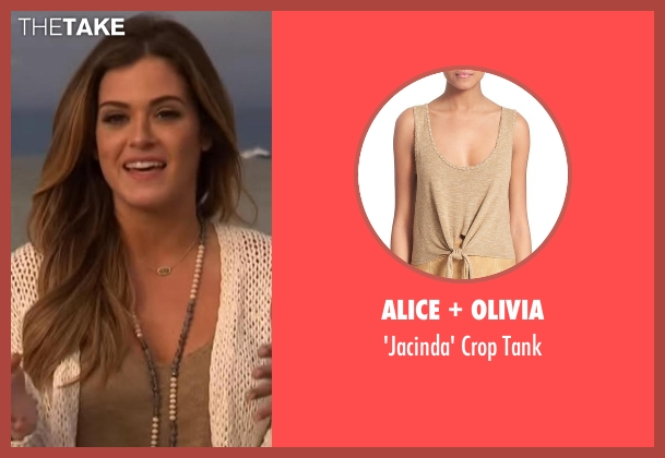 Alice + Olivia brown tank from The Bachelorette seen with JoJo Fletcher
