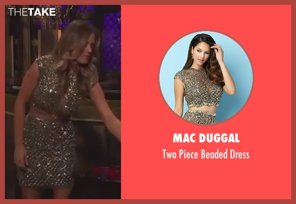 Mac Duggal gold dress from The Bachelorette seen with JoJo Fletcher