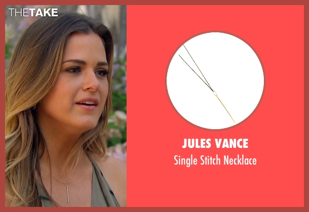 Jules Vance gold necklace from The Bachelorette seen with JoJo Fletcher