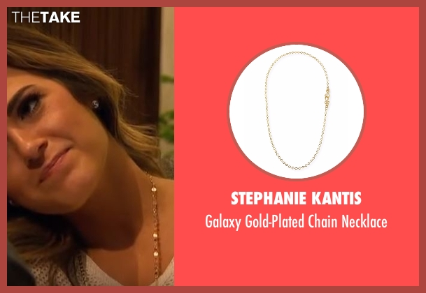 Stephanie Kantis  gold necklace from The Bachelorette seen with JoJo Fletcher