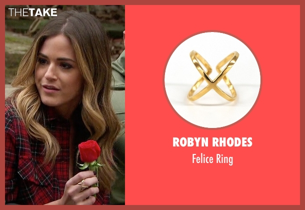Robyn Rhodes gold ring from The Bachelorette seen with JoJo Fletcher