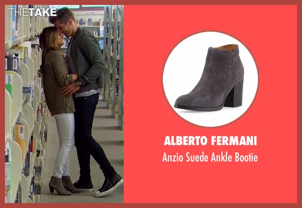 Alberto Fermani  gray bootie from The Bachelorette seen with JoJo Fletcher