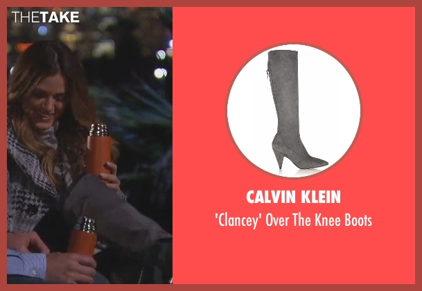 Calvin Klein gray boots from The Bachelorette seen with JoJo Fletcher