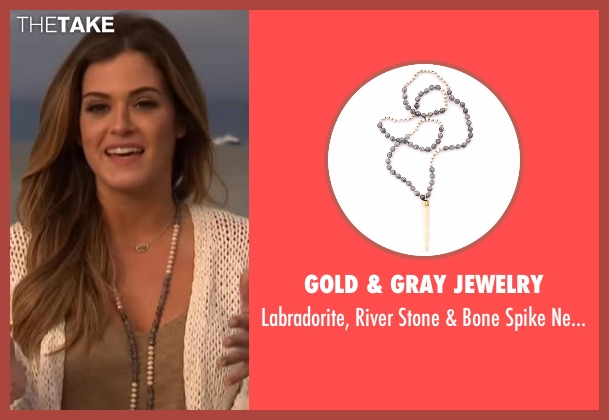Gold & Gray Jewelry gray necklace from The Bachelorette seen with JoJo Fletcher