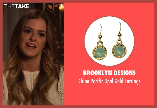 Brooklyn Designs green earrings from The Bachelorette seen with JoJo Fletcher
